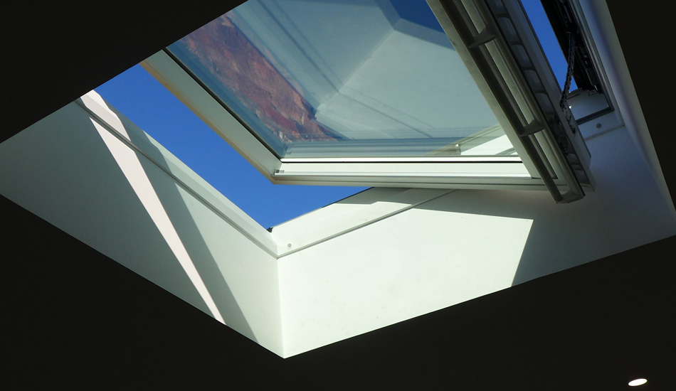 Velux window starview from bed